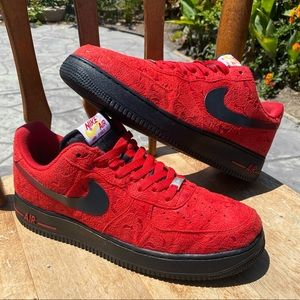 Nike Air Force 1 Low Men Size 12 Miami Heat